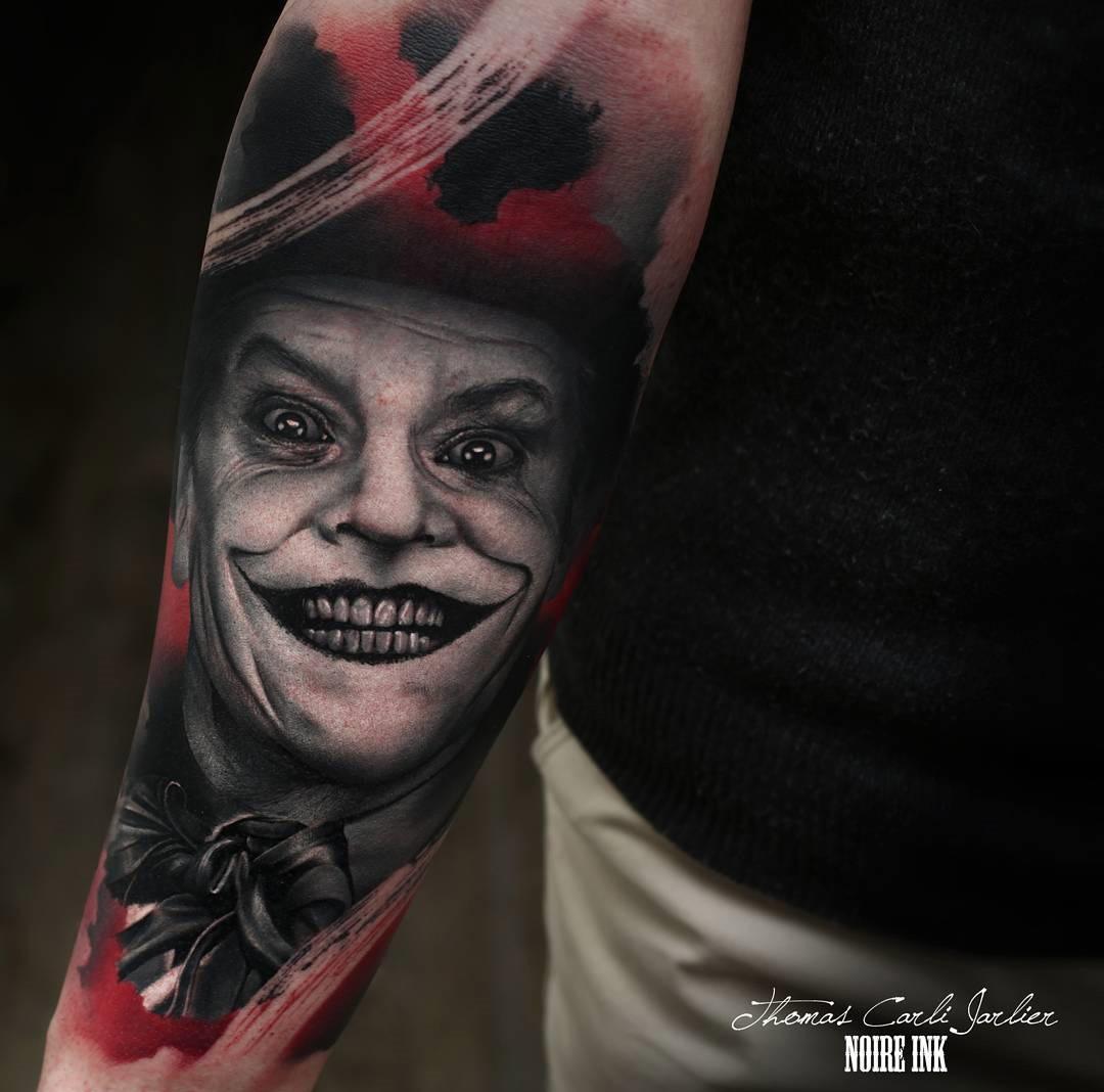 Jack Nicholson Playing The Joker Best Tattoo Design Ideas