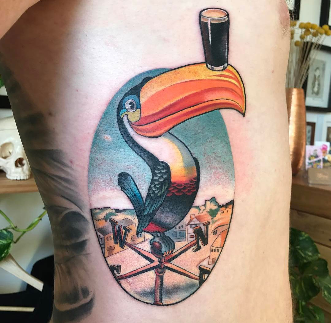 guinness toucan mascot tattoo best tattoo design ideas