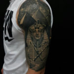 Tutankhamun & Pyramids Egyption Tattoo