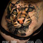 Leopard Hip Tattoo