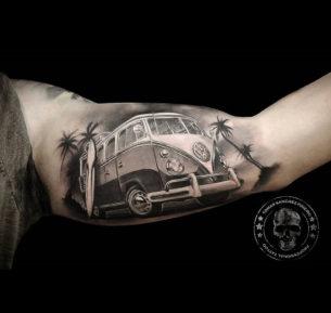 VW Camper Inner Bicep Tattoo