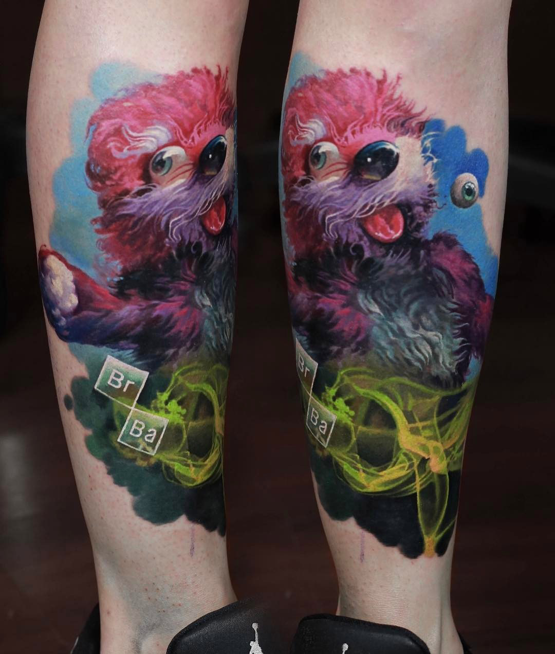 Pink Teddy Bear Tattoo