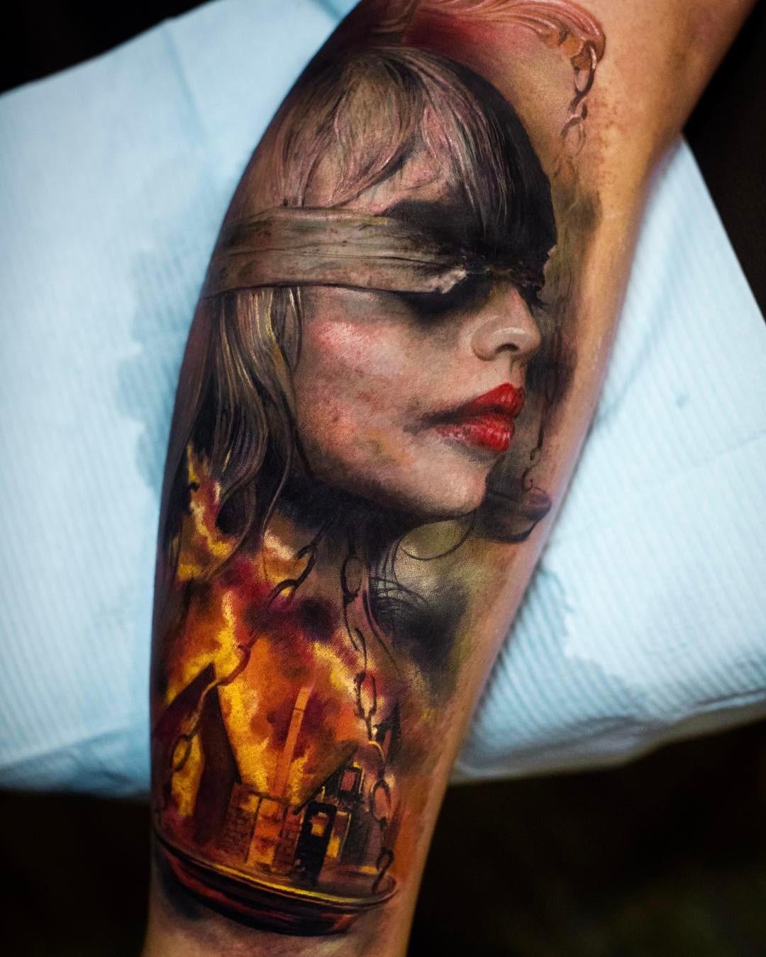 Lady Justice Tattoo | Best tattoo design ideas Labyrinth Owl Tattoo