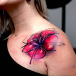 Abstract Lily Tattoo