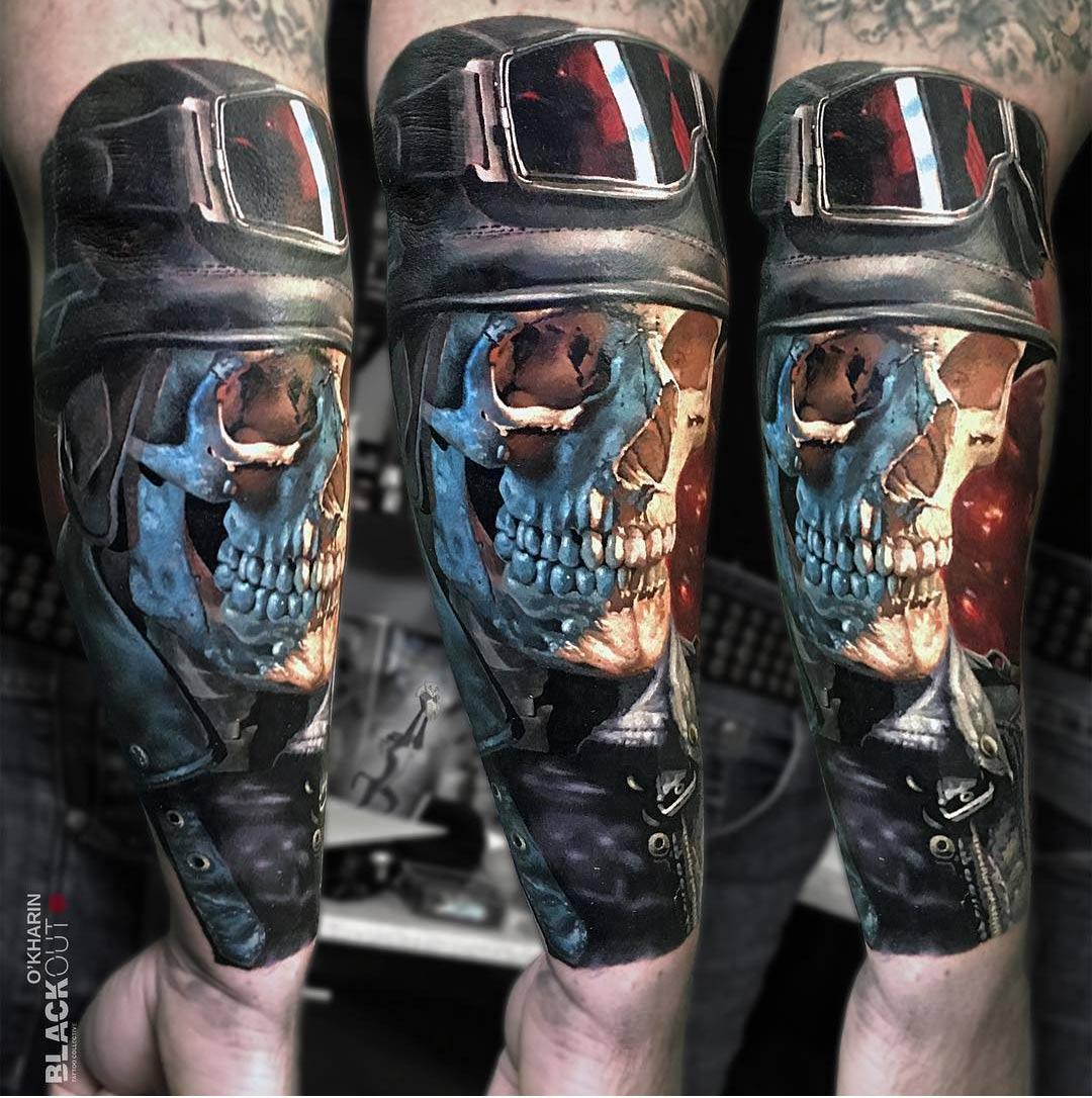 Skull Rider Tattoo