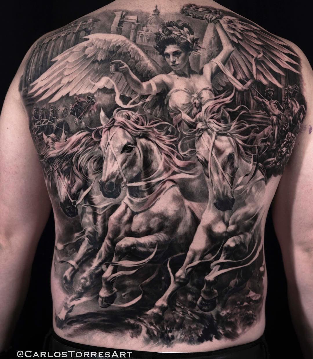 Victoria Back Tattoo The Roman Goddess Of Victory Best Tattoo