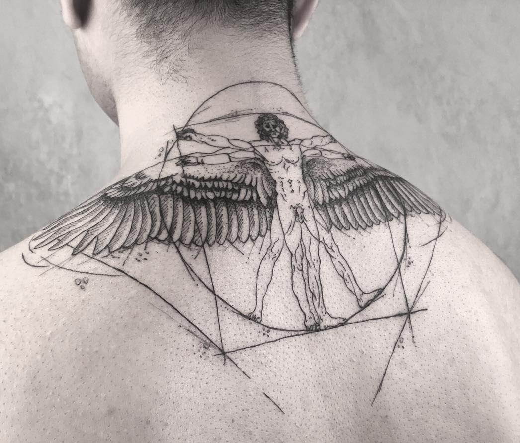 Vitruvian Man by Leonardo Da Vinci | Best tattoo design ideas