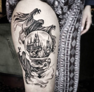 Harry Potter Piece with Dementors & Hogwarts