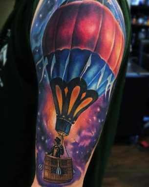Hot Air Balloon in Space