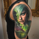 Northern Lights & Adriana Lima Portrait