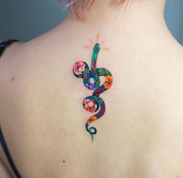 Colorful Snake Tattoos: Best Tattoo Design Ideas
