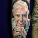 Portrait Tattoo of Sir David Attenborough
