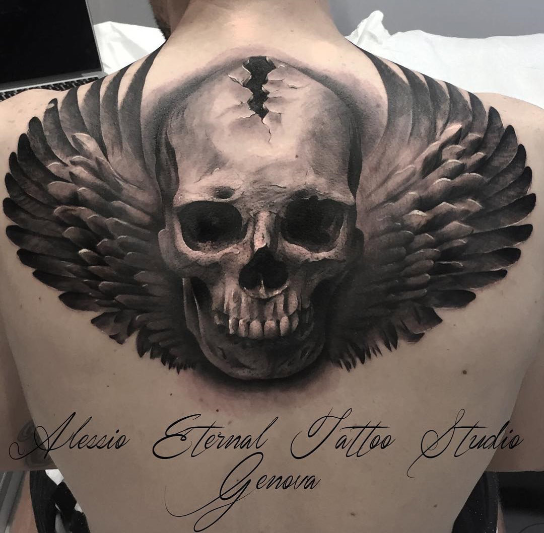 Skull Angel Tattoo