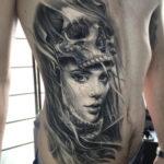 Skull & Portrait Tattoo