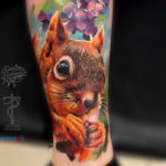 Realistic Squirrel Tattoo