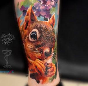 Squirrel Realism Tattoo