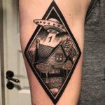 Alien Abduction Tattoo