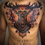 Deer Tattoo, Men's Chest