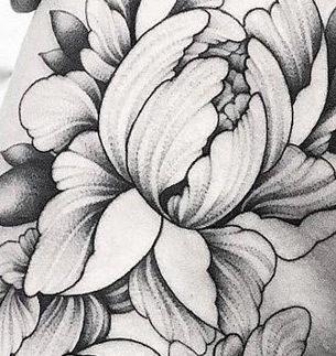 Floral Hip Tattoo