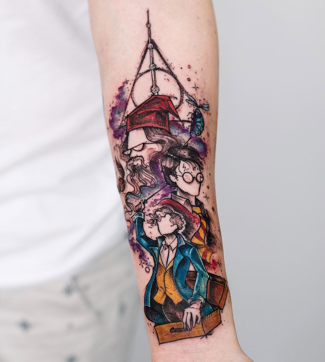 Harry Potter Tattoo On Girls Forearm Best Tattoo Design Ideas