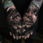 Poker Double Hand Tattoo