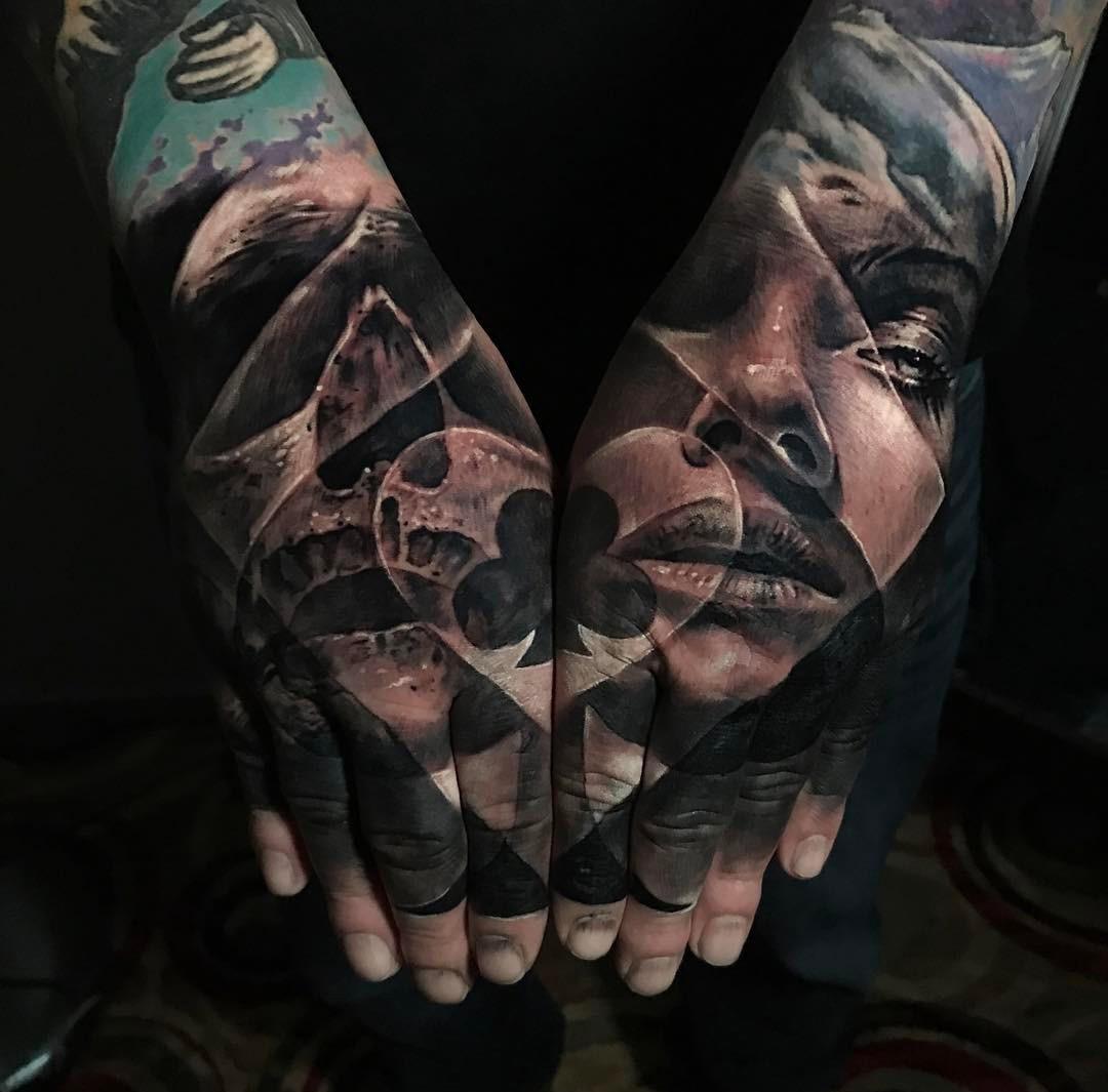 Poker Double Hand Tattoo