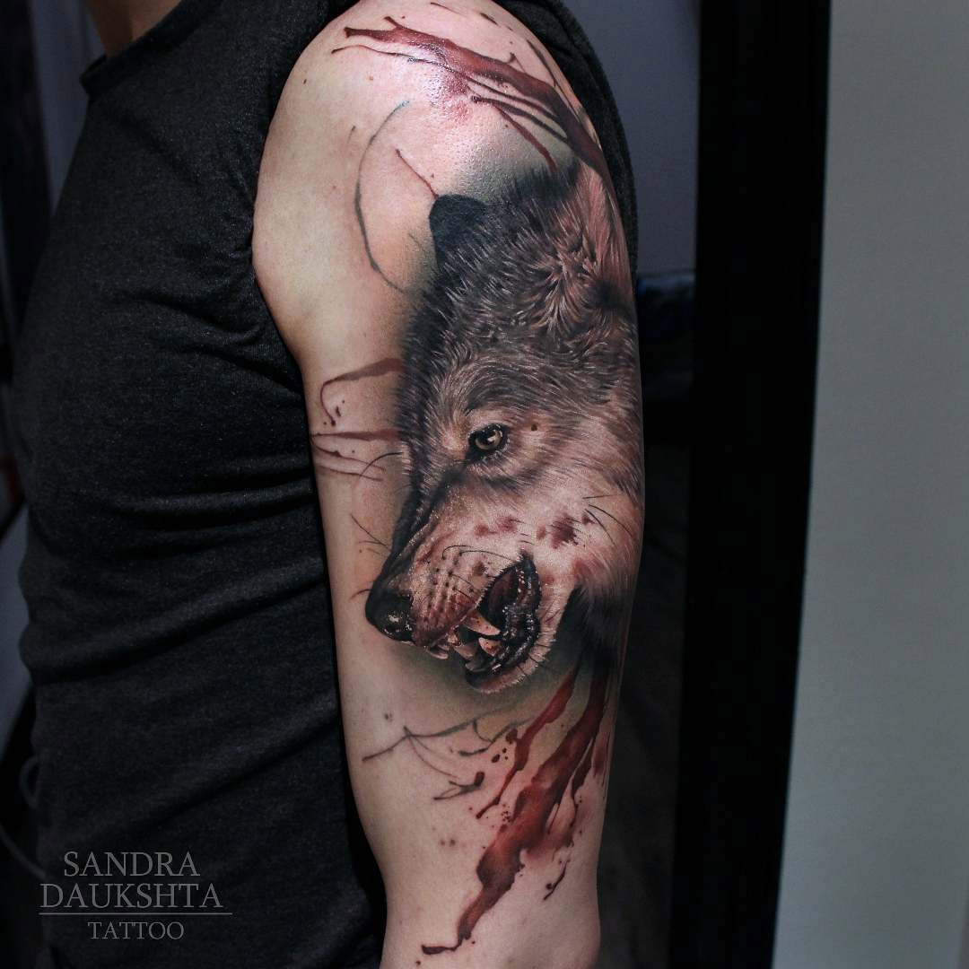 Bloody Wolf Tattoo