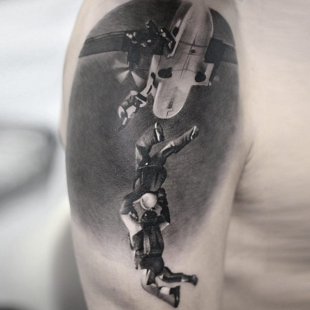 Skydivers tattoo