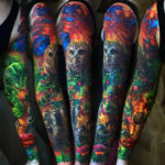 Owl, raccoon colorful sleeve