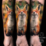 Fox Forearm Tattoo