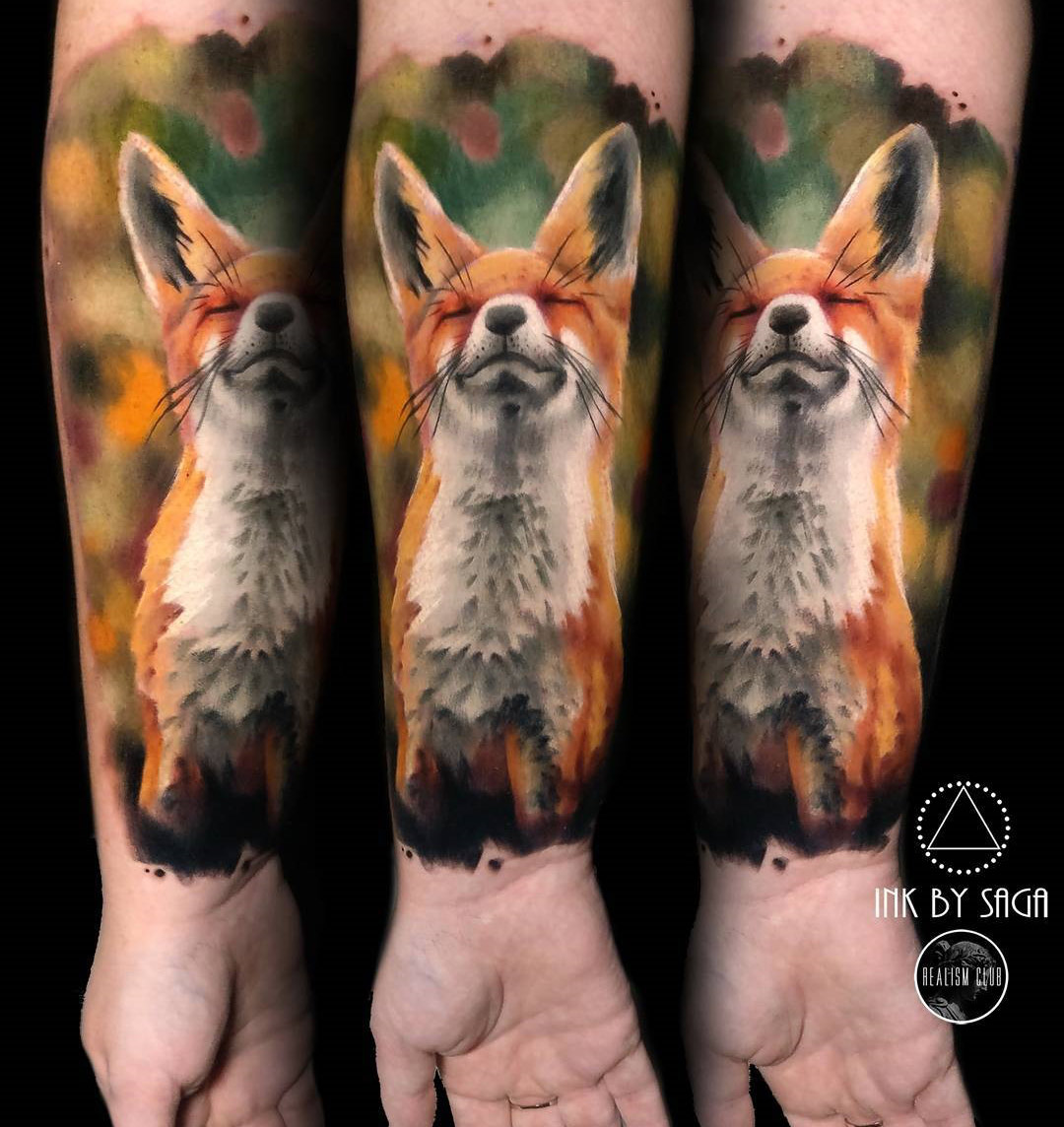 Fox Forearm Tattoo