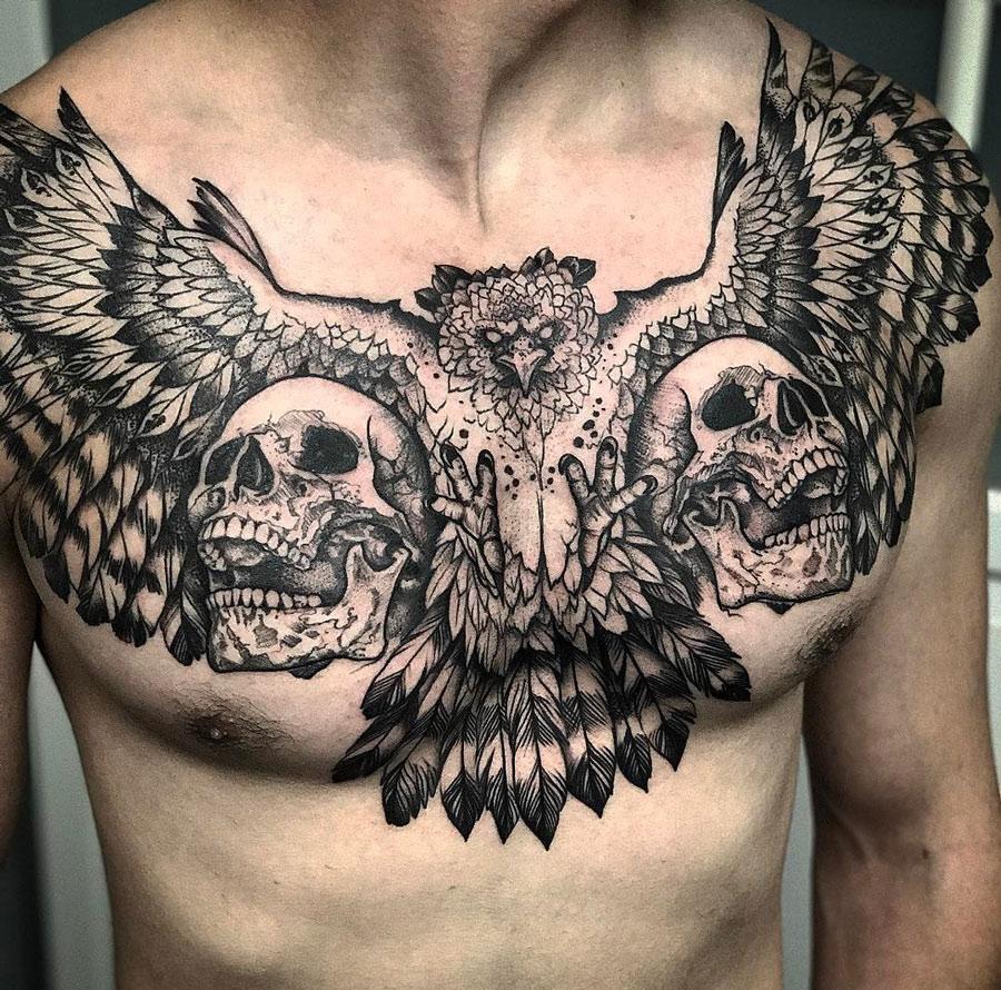 The Creation Of Adam Chest Tattoo