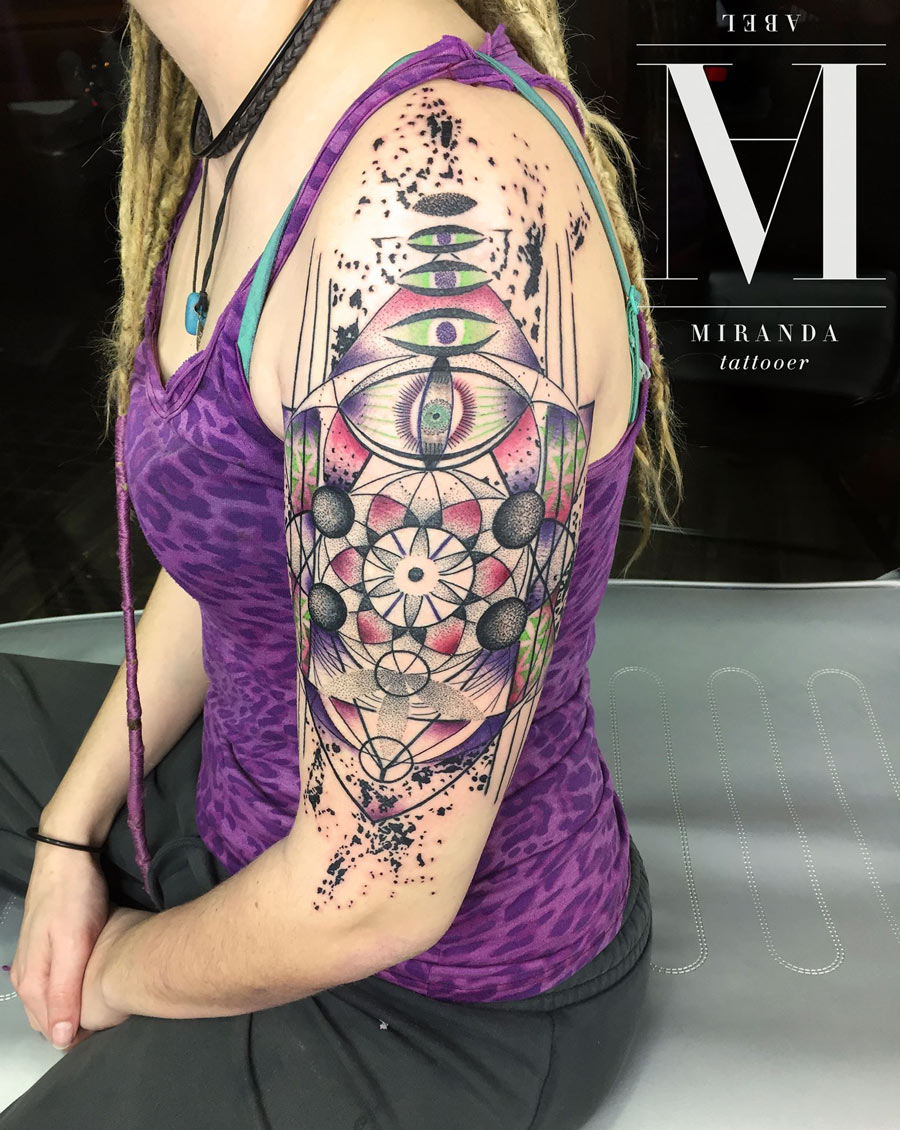 Psychedelic Geometry arm piece