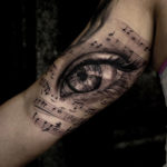 Eye & Notes, Arm Tattoo