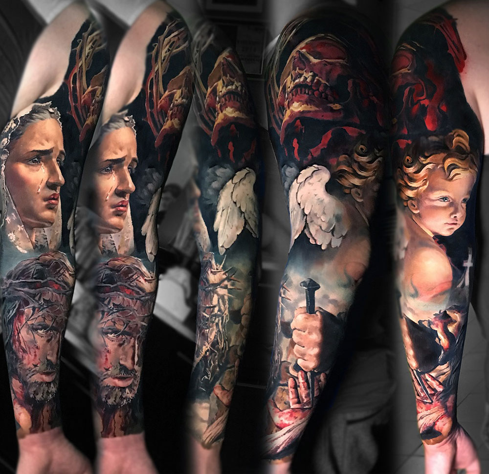 Jesus, Mary & Angel Sleeve