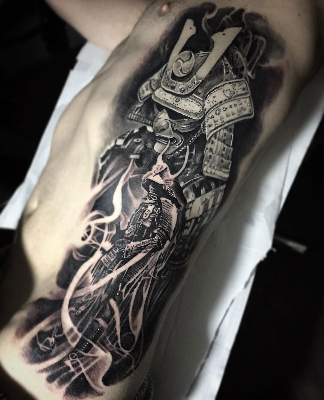 Samurai Rib Tattoo