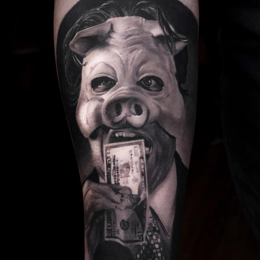 Corporate Pig Best Tattoo Design Ideas