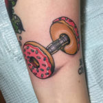 Donut Barbell Tattoo