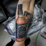 Jack Daniels realism tattoo