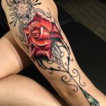 Red Rose, Ornamental Leg