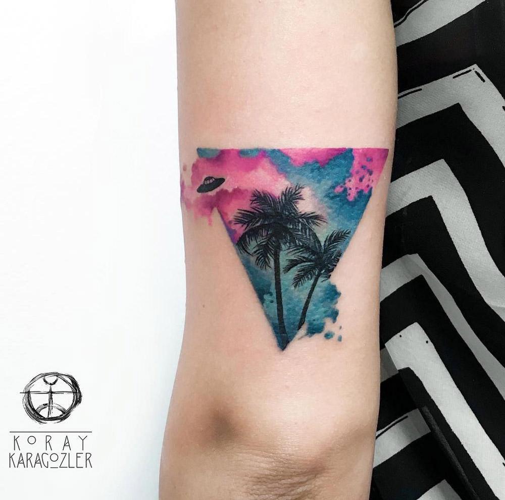 Bermuda Triangle Tattoo On Girl S Arm Best Tattoo Design Ideas