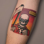Tropical Grim Reaper Tattoo