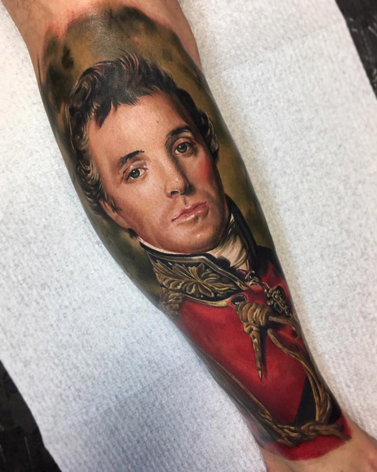 Duke of Wellington Portrait Tattoo