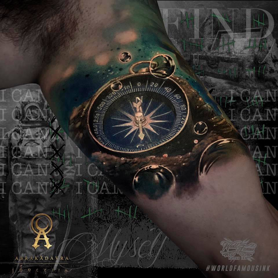 Find yourself compass cover up tattoo best tattoo design ideas solutioingenieria Image collections
