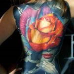 Full Back Rose & Portrait