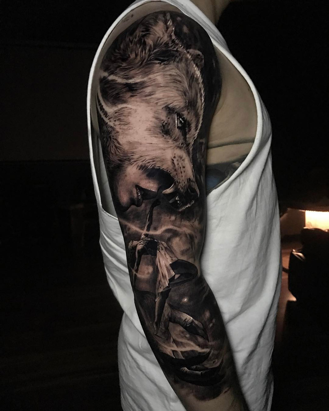 Wolf Sleeve Best Tattoo Design Ideas