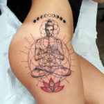 Yoga Pose, Girl's Hip Tattoo