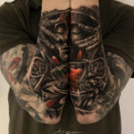 Aztec tattoo, mens double sleeve