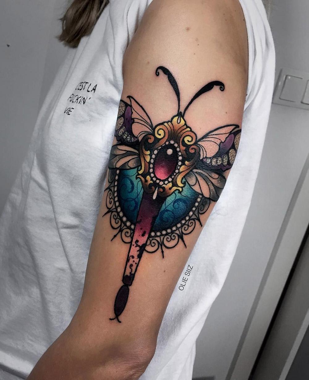 Ornamental dragonfly tattoo with jewels best tattoo design ideas ornamental dragonfly izmirmasajfo