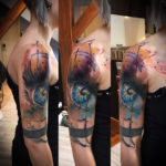 Abstract Eye Tattoo on Upper Arm